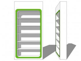 sketchup模型,一组高柜展示